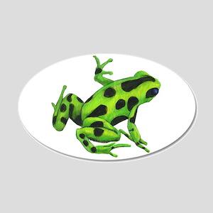 Green Dart Frog Wall Decal Sticker