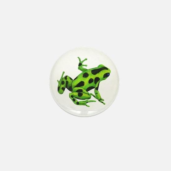 Green Dart Frog Mini Button