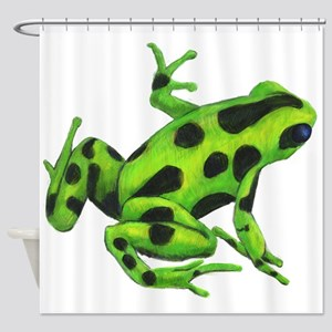 Green Dart Frog Shower Curtain