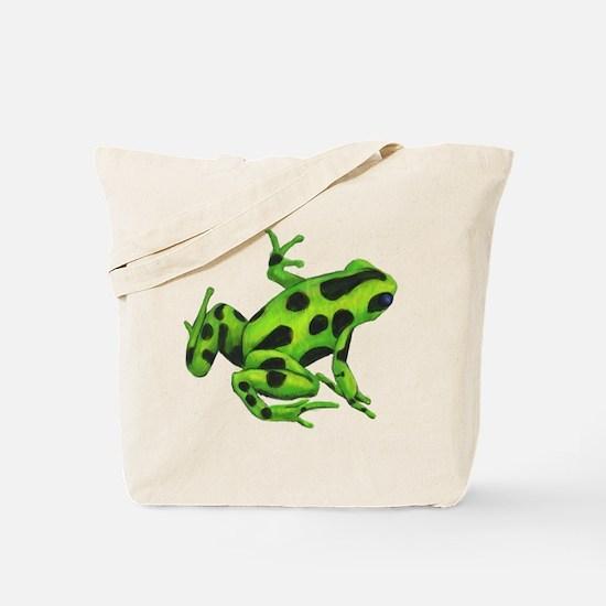 Green Dart Frog Tote Bag