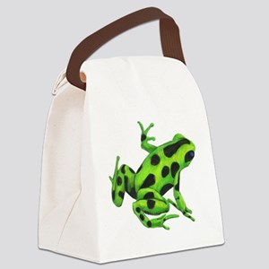 Green Dart Frog Canvas Lunch Bag
