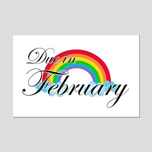 Due in February Rainbow Mini Poster Print