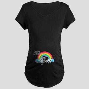 Due in April Rainbow Maternity Dark T-Shirt