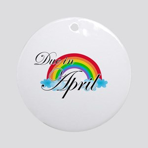 Due in April Rainbow Ornament (Round)