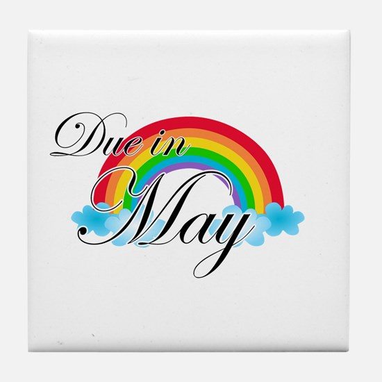 Due in May Rainbow Tile Coaster