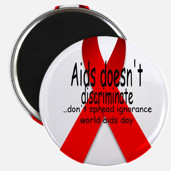 """Aids Doesn't discriminate 2.25"""" Magnet (10 pack)"""