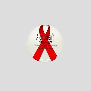 Aids Doesn't discriminate Mini Button
