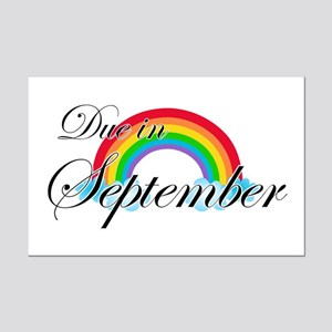 Due in September Rainbow Mini Poster Print