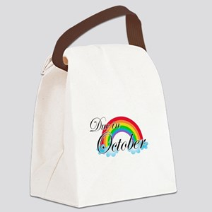 Due in October Rainbow Canvas Lunch Bag