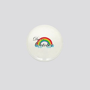 Due in October Rainbow Mini Button