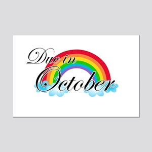 Due in October Rainbow Mini Poster Print