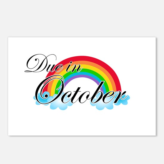 Due in October Rainbow Postcards (Package of 8)