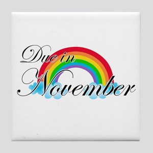 Due in November Rainbow Tile Coaster