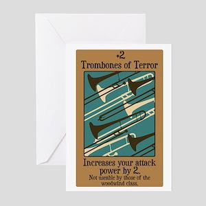 Trombones of Terror Greeting Cards (Pk of 10)