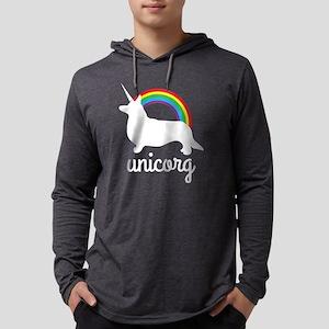 Unicorg, Unicorn and Welsh Corgi Mens Hooded Shirt