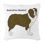 Australian Shepherd Woven Throw Pillow