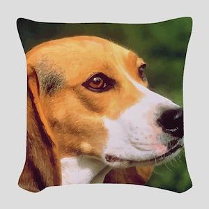 Beagle Woven Throw Pillow