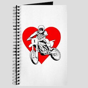 I love dirt biking with a red heart Journal