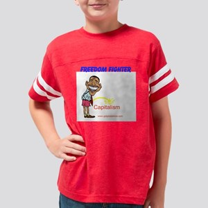 Freedom Fighter Capitalism Youth Football Shirt