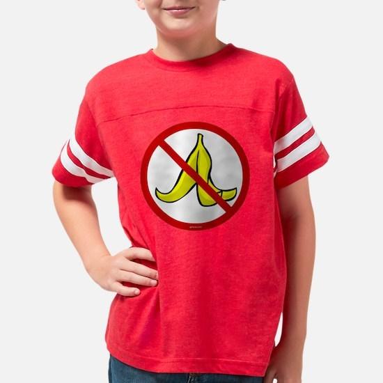 no_banana_peels Youth Football Shirt