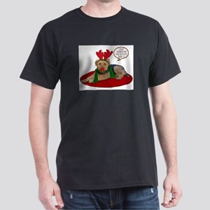 Airedale Terrier Christmas Dark T-Shirt