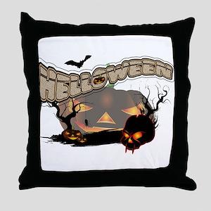Helloween Throw Pillow