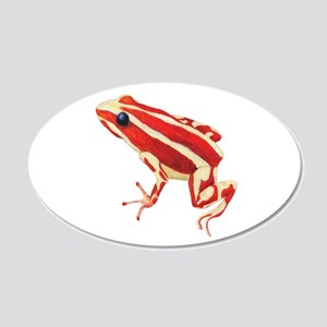 Red Dart Frog Wall Decal Sticker