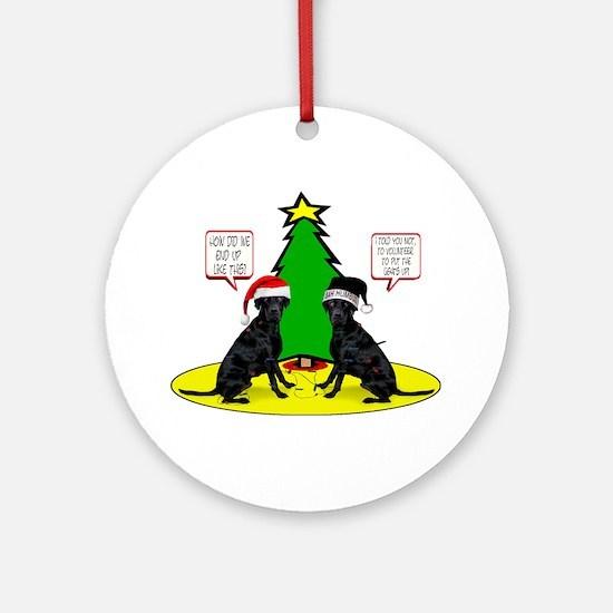 Christmas Tree Labs Ornament (Round)