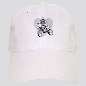 b27af2d74c63e I love dirt biking with a heart Cap