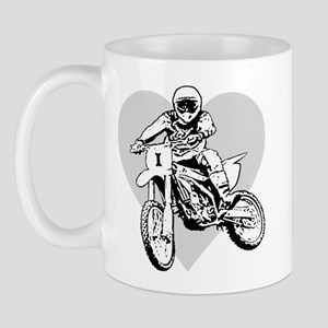 I love dirt biking with a heart Mug