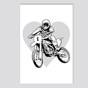 I love dirt biking with a heart Postcards (Package