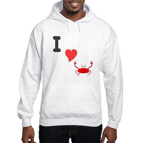 I (heart) crab Hooded Sweatshirt