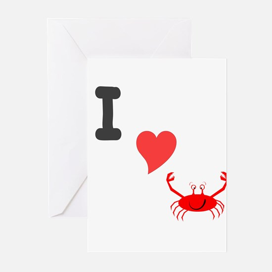 I (heart) crab Greeting Cards (Pk of 10)
