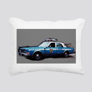 1980s police car, NYC Rectangular Canvas Pillow