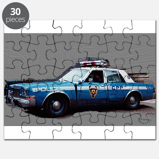 1980s police car, NYC Puzzle