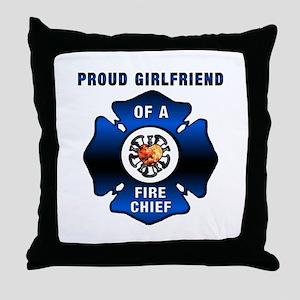 Fire Chief Proud Girlfriend Throw Pillow