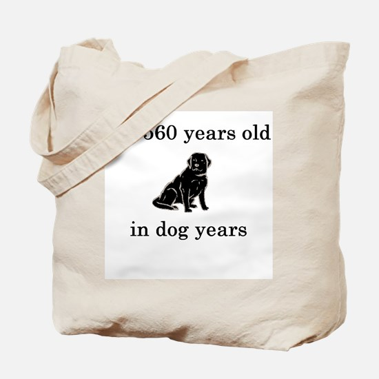 80 birthday dog years lab Tote Bag