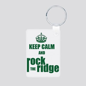 Keep Calm And RTR Aluminum Photo Keychain