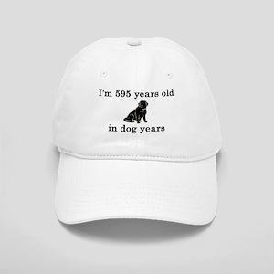 85 birthday dog years lab 2 Baseball Cap