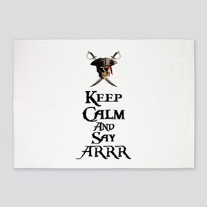 Keep Calm Say ARRR 5'x7'Area Rug