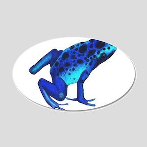 Blue Dart Frog Wall Decal Sticker