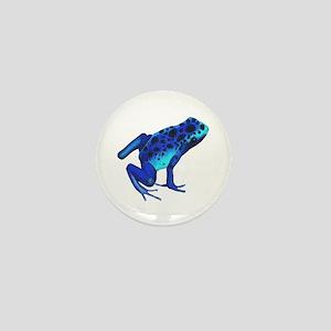 Blue Dart Frog Mini Button