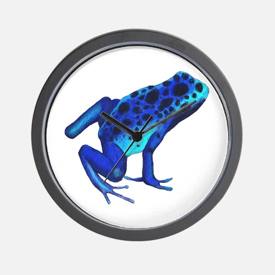 Blue Dart Frog Wall Clock