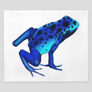 Blue Dart Frog King Duvet