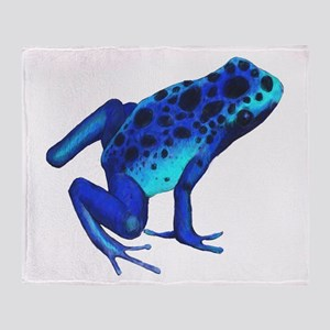 Blue Dart Frog Throw Blanket