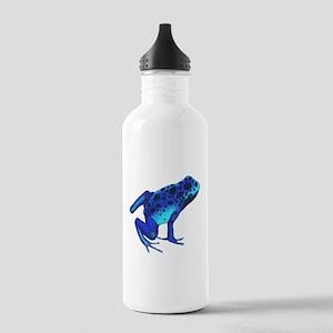Blue Dart Frog Sports Water Bottle