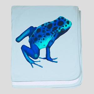 Blue Dart Frog baby blanket