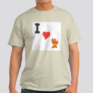 I (heart) fishy Ash Grey T-Shirt