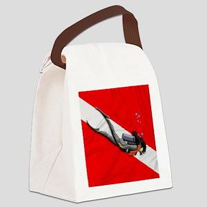 Dive Flag Canvas Lunch Bag
