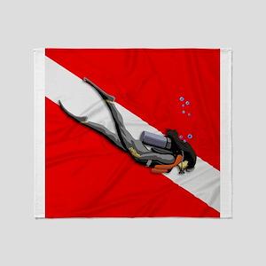 Dive Flag Throw Blanket